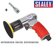 """Sealey Auto Luft Poliermaschine 75mm 3 """" Mini Dämpfer/Polier/Detail Maschine"""