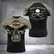 Harley-Davidson Men's Willie G Skull Long Sleeve Crew-Neck Cotton T-Shirt, Black