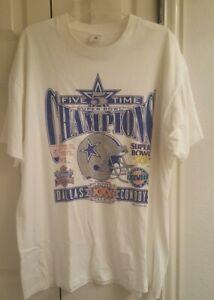 Vintage Dallas Cowboys Super Bowl XXX Men's T-Shirt 1995 5-Time Super Bowl Champ