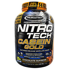 Muscletech Nitro Tech CASEIN GOLD Protein 5 lbs, 71 Servings CHOCOLATE SUPREME
