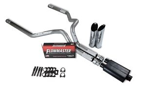 "Chevy GMC 1500 88-95 3"" Dual Truck Exhaust Kits Flowmaster 40 Series Slash Tip"