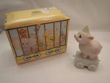 Precious Moments Circus Train Pig 'Heaven Bless This Special Day' 3 Yr Old w/Box