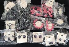 LOT 14 DESIGNER ART DECO RETRO NAVY PINK EARRINGS NECKLACES BRACELETS JEWELRY