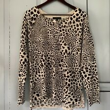 Sanctuary NWT Leopard Print Scoop Neck Wool Blend Sweater Medium