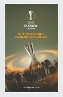 Orig.PRG    Europa League  2015/16  FC MIDTJYLLAND - MANCHESTER UNITED ! A  !!