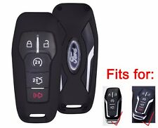 Aluminium Alloy Remote Keyless Key Fob Shell Cover for Ford Lincoln Black New