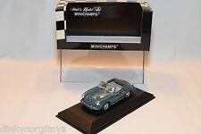 . MINICHAMPS PORSCHE 356 C CABRIOLET 1965 BLUE MINT BOXED