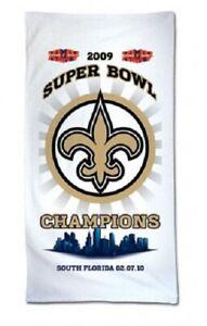 """NEW! New Orleans Saints Beach Towel - 100% Cotton 30"""" x 58"""""""