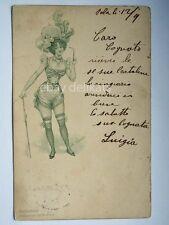 Sexy DONNA semi nude woman lady A. Trentin vecchia cartolina AK old postcard 1