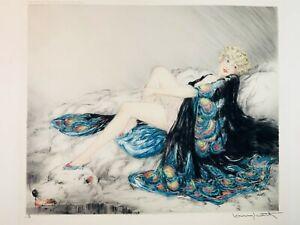 Louis Icart Silk Robe 1926 Etching