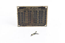 Graflex Pre Anniversary Speed Graphic 3 1/4X 4 1/4 Brass Name Plate V52