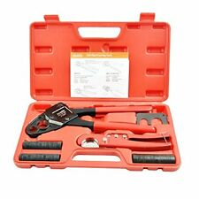 """Combo Crimping Tool for Pex Pipe Plumbing Kit Copper Ring 1/2""""&3/4"""" Crimpers"""