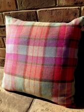 1 2 4 Designers Guild Velvet Voyage Tweed Wool Cushion Cover Purple Teal Pink