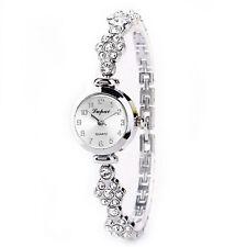 Fashion Women Stainless Steel Crystal Dial Quartz Bracelet Luxury Wrist Watches