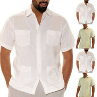 Mens Short Sleeve Casual T Shirt Multi-pockets Shirt Fishing Wear Top Blouse Tee