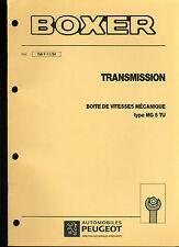 (120) MANUEL ATELIER RÉPARATION PEUGEOT BOXER TRANSMISSION BVM du 11-1994