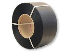 2x PP Umreifungsband 3000m 12mm x 0,55 mm 200 mm Kern schwarz