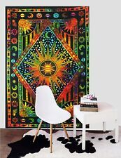 Multi Color Sun Moon Poster Tapestry Mandala Decor Cotton Hippie Wall Hanging