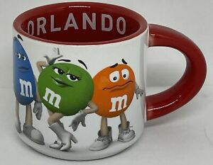 M&M's World Orlando Espresso Mug Shot Glass Red Brown Yellow Blue Green Orange