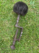 More details for antique vintage velvet pin cushion darning steel clamp sewing