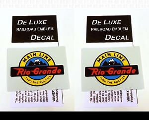 DeLuxe By Virnex Decals Rio Grande 3 X 2 Inches Herald D-101 -Two Decals-