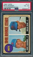 1968 Topps Set Break # 177 Mets Rookies Nolan Ryan PSA 4 *OBGcards*