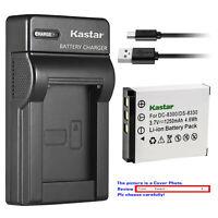 Kastar Battery Slim USB Charger for Megapix Vx8 Minox DC 1011 DC 1022 DC 8111