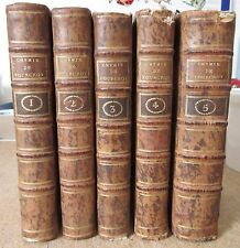 FOURCROY ELEMENS D'HISTOIRE NATURELLE & DE CHIMIE 10 TABLEAUX 5 VOL 1793 SCIENCE