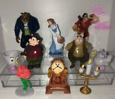 DISNEYS BEAUTY AND THE BEAST CAKE TOPPERS 10 PLASTIC FIGURES