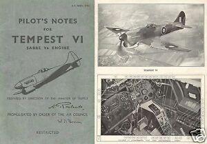 HAWKER TYPHOON & TEMPEST MANUALS + REPORT TEST DATA RARE RAF WW2 1940's Historic