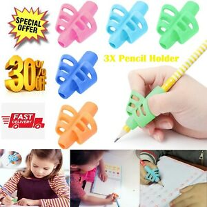 3PCS Grip Set Children Pencil Holder Pen Writing Aid Posture Correction Tools UK
