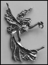 PEWTER CHARM #407 FAIRY (40mm x 60mm) 1 hole & 1 bail to hold drop / pendant