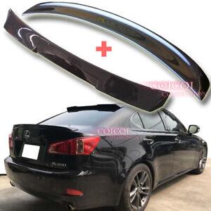 Carbon Fiber LEXUS 05-12 IS250 IS350 Sedan V type roof + F type trunk spoiler ◎