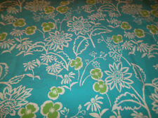 The Company Store Twin Duvet Blue White Green Floral Button Close kids