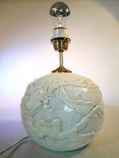 Stylische Keramik Tischlampe - Lampenfuß 70-er Jahre signiert
