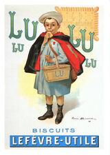 CPP011 CARTE POSTALE publicité BISCUITS LU - LEFEVRE UTILE