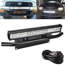 Fit TOYOTA 4Runner Tacoma 126W LED Light Bull Bar Bumper License Plate Bracket