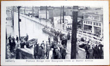 1930s Disaster Postcard: Pontoon Bridge, Beargrass Creek-Louisville, Kentucky KY