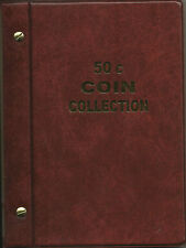 VST AUSTRALIAN 50c COIN ALBUM for 50c COLLECTION 1966 - 2016 RED COLOUR