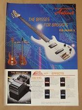 vintage magazine advert 1986 ARIA BASSES