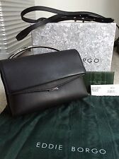 Eddie Borgo Boyd Vanity Black Matte Leather Shoulder Bag
