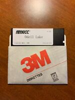 Mecc Odell Lake A191 apple ii iic iie 2 2e 2c 1986 video game with manual 5.25