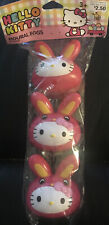 Unopened Pack Of 3 Hello Kitty Figural Eggs Cntainers Capsules Easter