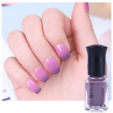 1 Bottle 6ml Thermal Color Changing  Peel Off UV Gel Nail Polish Gray to Purple