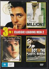 3-in-1 Leading Men DVD Millions / Lady and Highwayman / Boy in Plastic Bubble