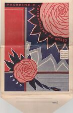 ROSE  BOWL PARADE-1935 2-SIDED STRIP OF 16 POSTCARD-SIZE VIEWS OF THE FLOATS
