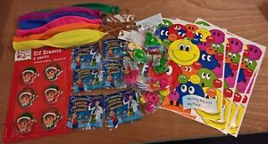 6 x Childrens party loot bags with toys included boys and girls