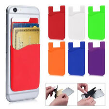 Silicone Mobile Phone Wallet Card Silicon Stick On Cash Credit Card Holder Gifts