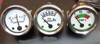 Massey Oil Pressure (Female)Temp+ Amp Gauge Set TE20,TO20,TO30,T035,F40 Tractor.