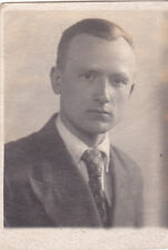 1940s Handsome young man boy in suit old Russian Soviet photo